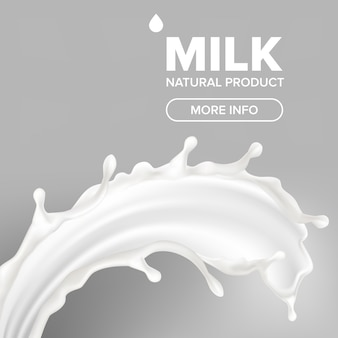 Banner milk splash