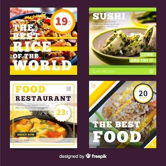 Banner oferty żywności ze zdjęciem