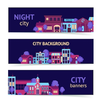 Banner poziomy miasta