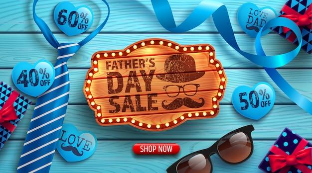Banner promocji sprzedaży dnia ojca