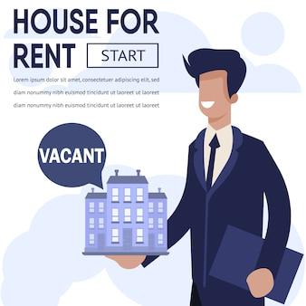 Banner reklama nieruchomości nieruchomości do wynajęcia