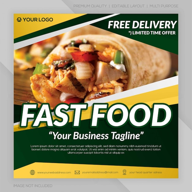 Banner restauracji fast food