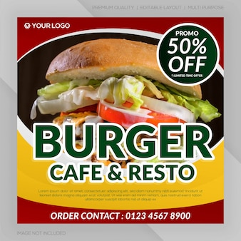 Banner restauracji hamburger