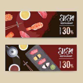 Banner restauracji sushi