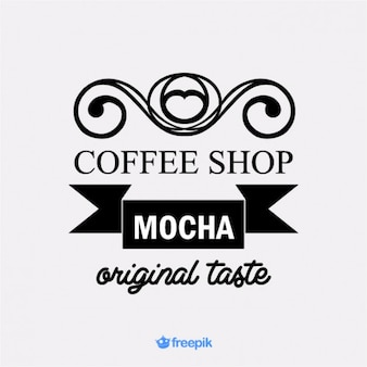 Banner retro mocha coffee shop