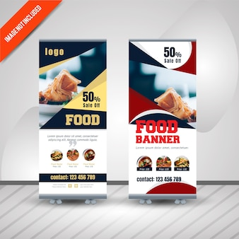 Banner roll up banner food restaurant