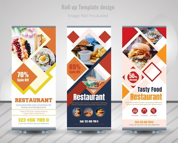 Banner roll up roll food dla restauracji