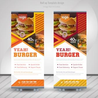 Banner roll up żywności dla restauracji