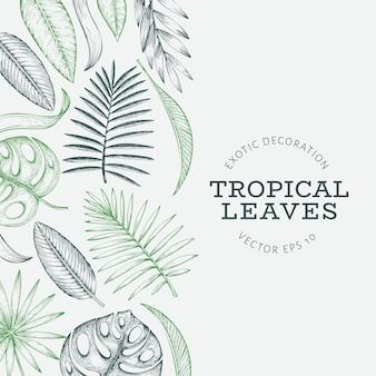 Banner roślin tropikalnych.