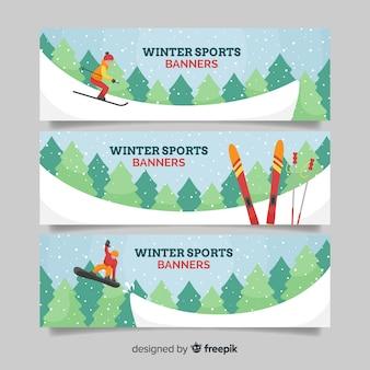 Banner sportów zimowych