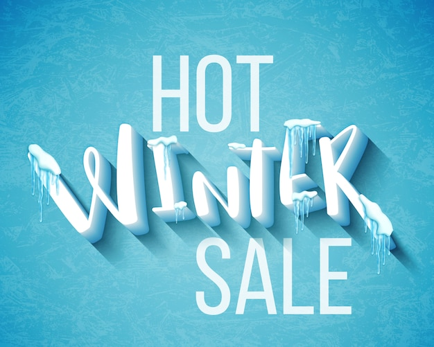Banner sprzedaży gorącej zimy