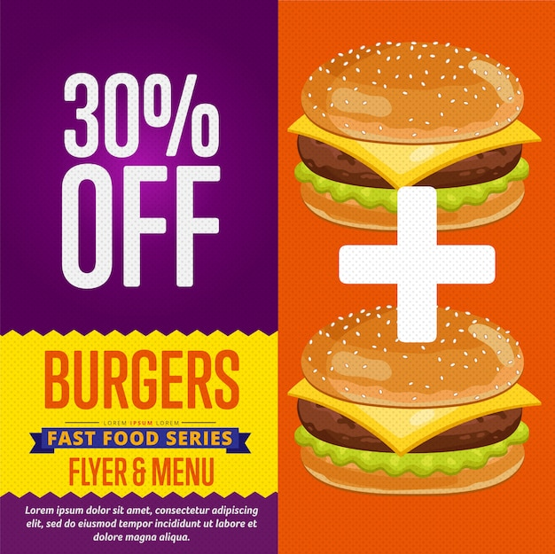 Banner sprzedaży hamburgerów.