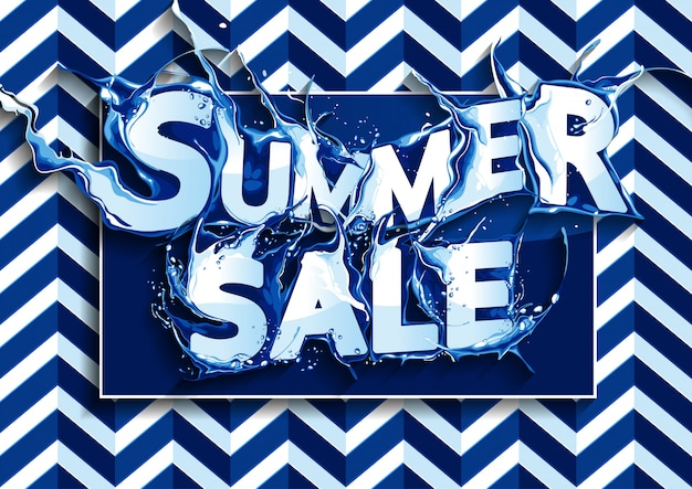 Banner sprzedaży letniej