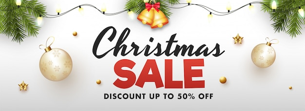 Banner sprzedaży świątecznej.