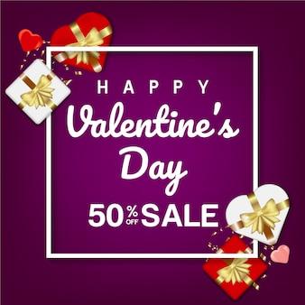 Banner sprzedaży valentine