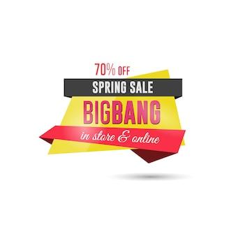Banner sprzedaży w czasie wiosny
