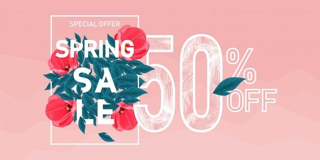 Banner sprzedaży wiosennej