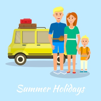 Banner summer holidays