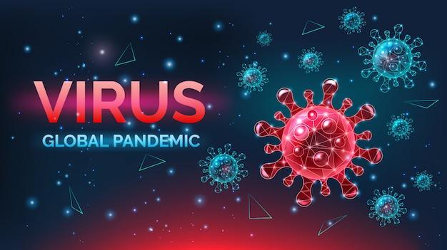 Banner świadomości choroby wirusowe, niebezpieczne infekcje, ostrzeżenie, ilustracja.