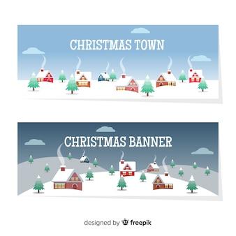 Banner świątecznej miejscowości