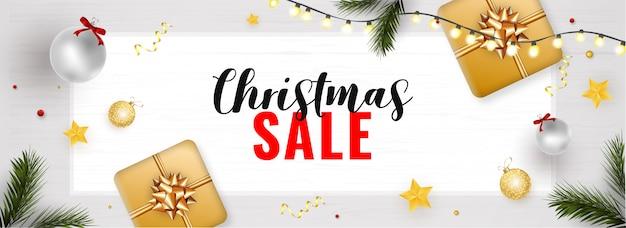 Banner świątecznej sprzedaży