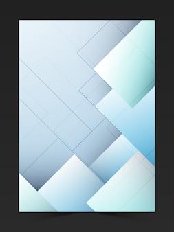 Banner ulotka abstrakcyjny szablon marketingowy