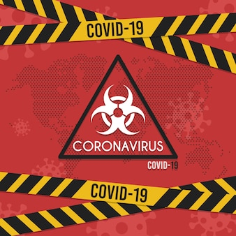 Banner virus background. infografiki medyczny koronawirus. infekcja wirusowa edytowalnego szablonu.
