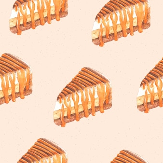 Banoffee ciasto wzór