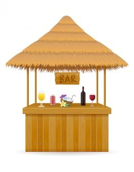 Bar na plaży na letnie wakacje w ośrodku w tropikach