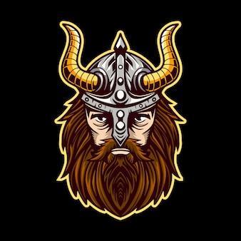 Barbarzyńska głowa wikinga