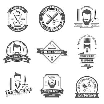 Barber shop emblem