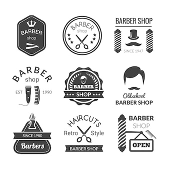 Barber shop emblematy