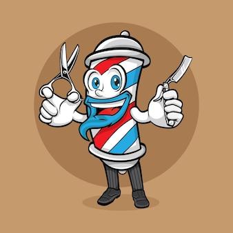 Barber shop smile maskotka logo cartoon design