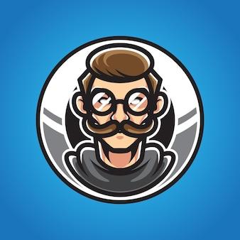 Barbershop e sport maskotka logo