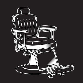 Barbershop krzesło rocznika odosobniony wysoki szczegółowy