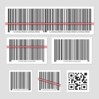 Barcode ilustracja odizolowywająca na popielatym
