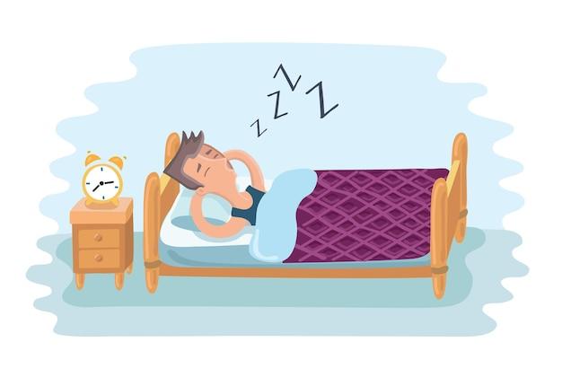 Bardzo zmęczony spanie biznesmen
