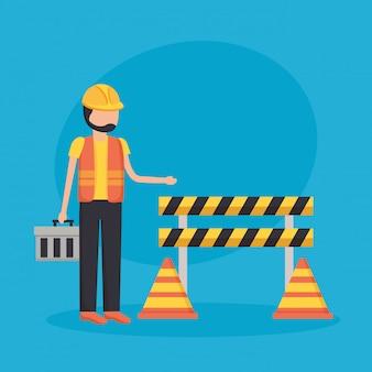 Bariera dla pracowników budowlanych