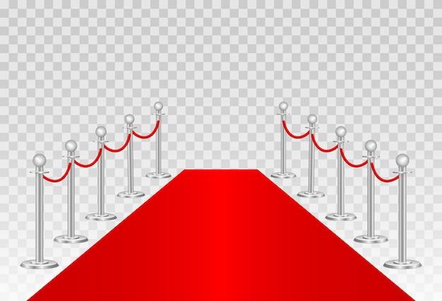 Bariery z czerwonego dywanu i ścieżki