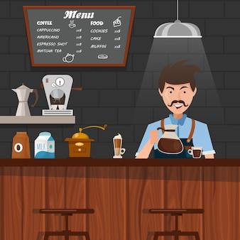 Barista at work design