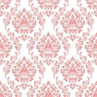 Barok bezszwowe tło wzór. klasyczny luksus staromodny ornament adamaszku