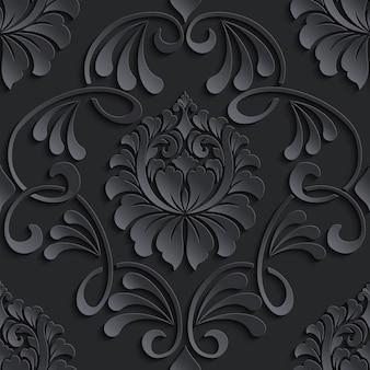 Barok bezszwowe tło wzór.