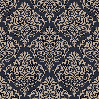 Barok bezszwowe wzór. tapeta klasyczna luksusowa ozdoba.