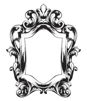 Barokowa rama lustra