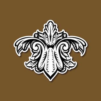 Barokowa rocznik elegancka ilustracja
