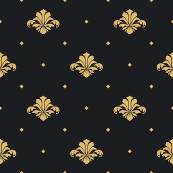 Barokowa tapeta królewska. wzór tła bez szwu,