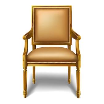 Barokowe przytulne krzesło.