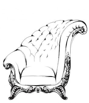 Barokowy fotel
