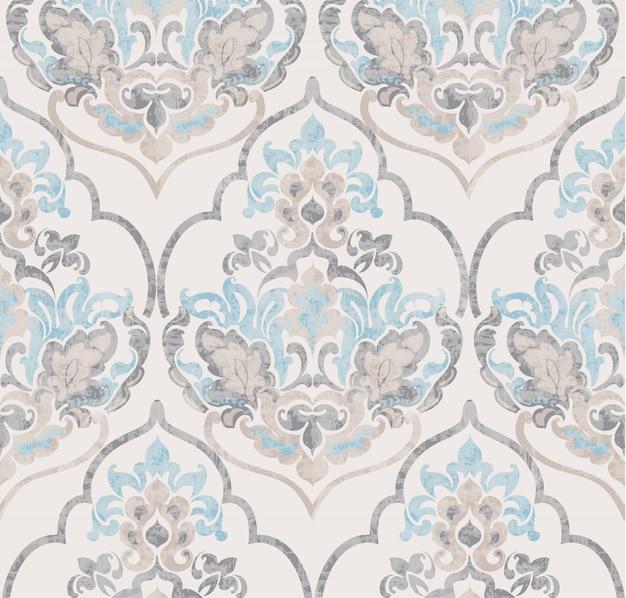 Barokowy ornament. luksusowa akwarela modne tekstury
