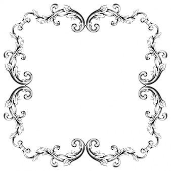 Barokowy ornament udekoruj